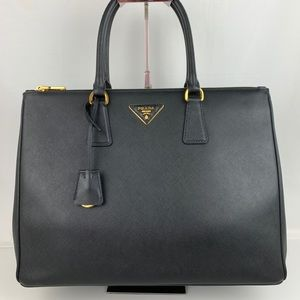 New Prada Italian Galleria Large Double Zip Tote